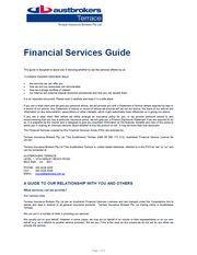 Austbrokers Terrace Financial Services Guide